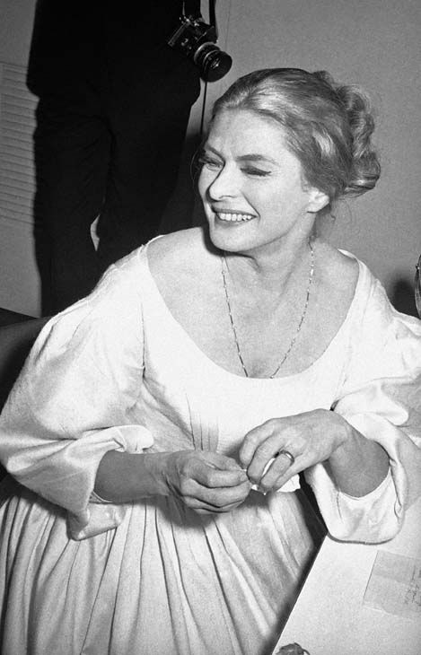 Actress Ingrid Bergman in her dressing room following the opening performance of Eugene O?Neill?s play, ?More Stately Mansions? in Los Angeles on Sept. 12, 1967. It marked Miss Bergman?s return to the American stage after a 21-year absence. &#40;AP Photo&#47;Fred Widdis&#41; <span class=meta>(AP Photo&#47; Fred Widdis)</span>