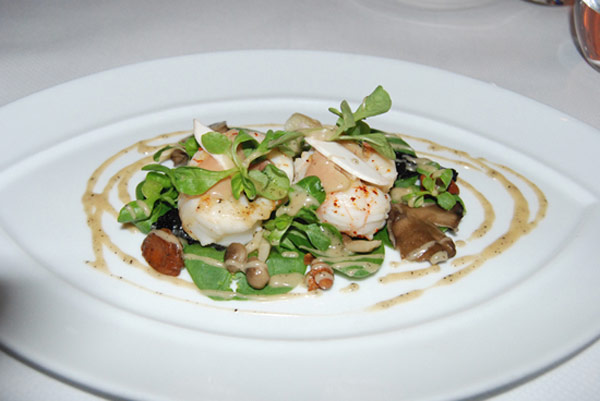 A small dish can be seen here from the New York City restaurant Le Bernardin. This restaurant was announced by TripAdvisor to be the favorite restaurant in the country by travelers as well the most preferred restaurant in the city of New York.  <span class=meta>(TripAdvisor)</span>