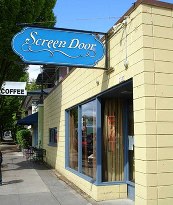 Here&#39;s a view from the sidewalk of the popular Portland, Oregon, restaurant Screen Door. This restaurant was announced by TripAdvisor to be the tenth most preferred restaurant in the country. <span class=meta>(TripAdvisor)</span>