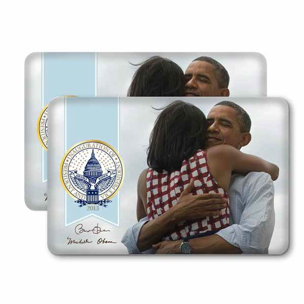 """Two official 57th Presidential Inauguration buttons."" The Presidential Inaugural Committee launched its online store to sell souvenirs.  Online store: http://store.2013pic.org"