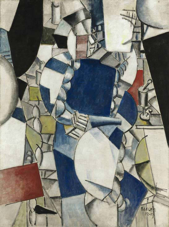 "<div class=""meta image-caption""><div class=""origin-logo origin-image ""><span></span></div><span class=""caption-text"">In this photo released by Sotheby's Auction House in New York, Wednesday, May 7, 2008, a cubist oil painting by 20th century French artist Fernand Leger is shown. The auction house says the 1912-1913 painting, ""Study for a Woman in Blue,"" sold Wednesday for $39.2 million. The abstract geometric painting shows a woman in a blue dress seated at a table with her hands in her lap. (AP Photo/Sotheby's)  (AP Photo/ Anonymous)</span></div>"