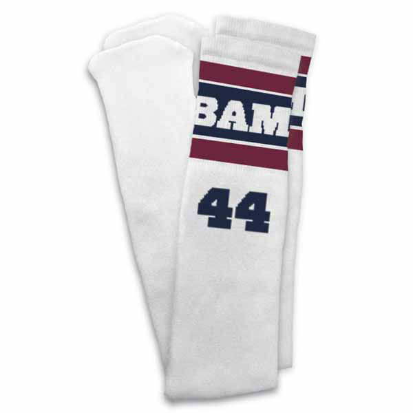 """Our Obama 44 tube socks are a fun and stylish way to commemorate the 57th Presidential Inauguration. "" The Presidential Inaugural Committee launched its online store to sell souvenirs.  Online store: http://store.2013pic.org"