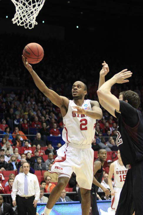 North Carolina State guard Lorenzo Brown &#40;2&#41; in action against Temple in a second-round game at the NCAA college basketball tournament, Friday, March 22, 2013, in Dayton, Ohio. &#40;AP Photo&#47;Skip Peterson&#41; <span class=meta>(AP Photo&#47; Skip Peterson)</span>