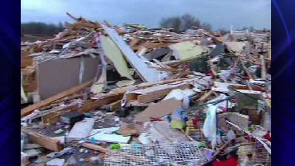"<div class=""meta ""><span class=""caption-text "">Debris left over from homes in Harrisburg, Ill., after an early morning tornado Wednesday, Feb. 29, 2012 (ABC 7 Chicago)</span></div>"