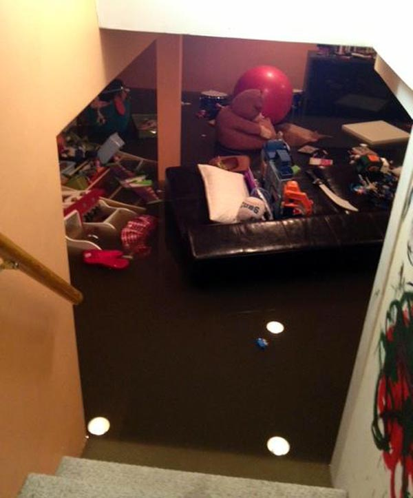 Viewer photo: A flooded basement in Harwood Heights.