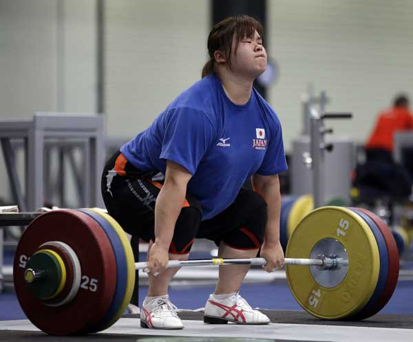 "<div class=""meta ""><span class=""caption-text "">Japan's Mami Shimamoto works out at the weightlifting venue in preparation for the 2012 Summer Olympics, Friday, July 27, 2012, in London.  (AP Photo/Hassan Ammar)</span></div>"