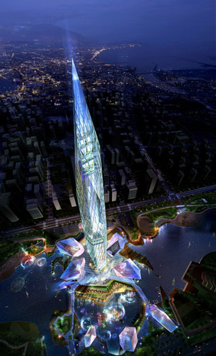 "<div class=""meta image-caption""><div class=""origin-logo origin-image ""><span></span></div><span class=""caption-text"">Rendering of the planned ''invisible'' Tower Infinity in Seoul, South Korea.  (GDS Architects)</span></div>"