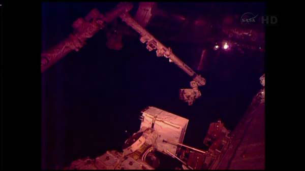 "<div class=""meta ""><span class=""caption-text "">Christmas Eve spacewalk to try to fix International Space Station cooling system for two astronauts.  (WLS Photo)</span></div>"