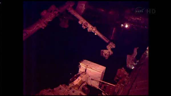 "<div class=""meta image-caption""><div class=""origin-logo origin-image ""><span></span></div><span class=""caption-text"">Christmas Eve spacewalk to try to fix International Space Station cooling system for two astronauts.  (WLS Photo)</span></div>"