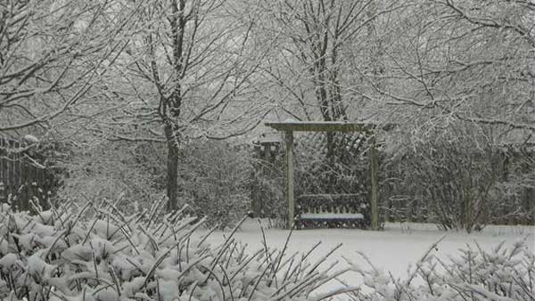 Snow in Algonquin- Send your snow photos to USeeIt@abc7chicago.com