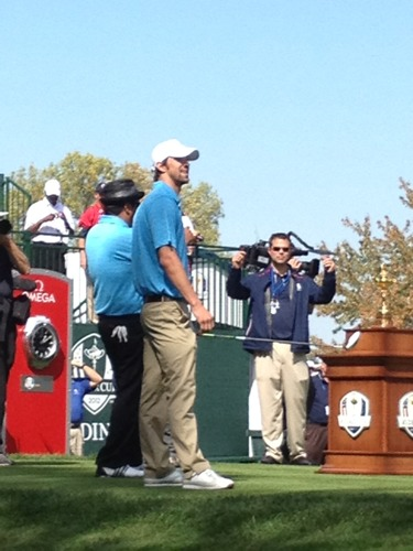 Michael Phelps at #RyderCup. Via @RaferWeigel