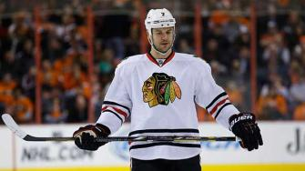 Blackhawks defenseman Brent Seabrook has been suspended for three games for his hit on Blues center David Backes during their first-round playoff series.