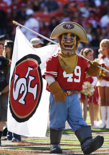 "<div class=""meta ""><span class=""caption-text "">7.Sourdough Sam, San Francesco 49ers: Sourdough Sam, the San Francisco 49ers mascot during their NFL football game against the Tennessee Titans in San Francisco, Sunday, Nov. 8, 2009. (AP Photo/Marcio Sanchez) (AP Photo/ ER)</span></div>"