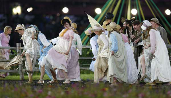 "<div class=""meta image-caption""><div class=""origin-logo origin-image ""><span></span></div><span class=""caption-text"">Actors perform during the Opening Ceremony at the 2012 Summer Olympics, Friday, July 27, 2012, in London. (AP Photo/Matt Dunham) (AP Photo/ Matt Dunham)</span></div>"
