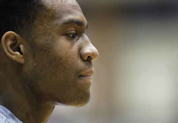 FILE - In this March 13, 2012 file photo, Simeon Career Academy&#39;s forward Jabari Parker looks out over the court during an Illinois state high school basketball playoff game in Chicago. On Wednesday, July 11, 2012, Parker tweeted the 10 schools in no particular order he is considering with a year to go before he graduates from high school. They are: national champion Kentucky, Stanford, Michigan State, Kansas, Florida, Duke, BYU, Georgetown, DePaul and North Carolina. &#40;AP Photo&#47;Charles Rex Arbogast, File&#41; <span class=meta>(AP Photo&#47; Charles Rex Arbogast)</span>