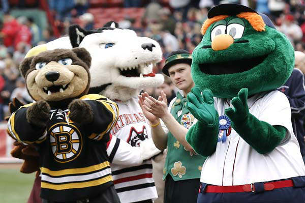 "<div class=""meta image-caption""><div class=""origin-logo origin-image ""><span></span></div><span class=""caption-text"">10.Wally the Green Monster, Boston Red Sox: Mascots from around Boston and New England gather for Wally The Green Monster's 16th birthday before a baseball game between the Boston Red Sox and the Tampa Bay Rays at Fenway Park in Boston Sunday, April 14, 2013. (AP Photo/Winslow Townson) (AP Photo/ Winslow Townson)</span></div>"