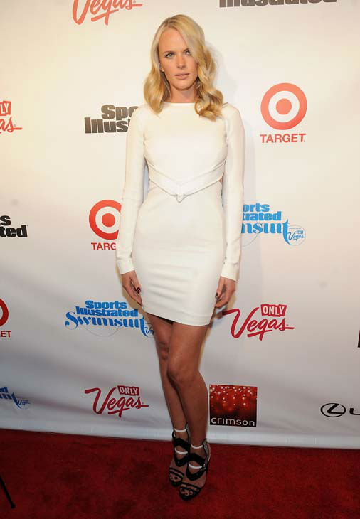 Model Anne V attends the 2013 Sports Illustrated Swimsuit issue launch party at Crimson on Tuesday, Feb. 12, 2013 in New York.&#40;Photo by Brad Barket&#47;Invision&#47;AP&#41; <span class=meta>(AP Photo&#47; Brad Barket)</span>