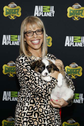 IMAGE DISTRIBUTED FOR DISCOVERY COMMUNICATIONS -  Animal Planet President Marjorie Kaplan attends Puppy Bowl X at the Discovery Times Square Experience in New York on Tuesday, Jan. 28, 2014. &#40;Mark Von Holden&#47;AP Images for Discovery Communications&#41; <span class=meta>(WLS Photo&#47; Mark Von Holden)</span>