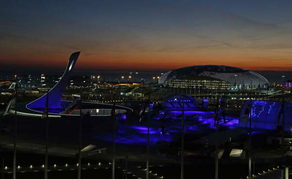 "<div class=""meta ""><span class=""caption-text "">The sun sets over the Olympic Park before the opening ceremony of the 2014 Winter Olympics in Sochi, Russia, Friday, Feb. 7, 2014. (AP Photo/Julio Cortez) (Photo/Julio Cortez)</span></div>"