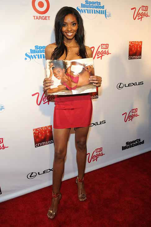 "<div class=""meta ""><span class=""caption-text "">Model Adaora attends the 2013 Sports Illustrated Swimsuit issue launch party at Crimson on Tuesday, Feb. 12, 2013 in New York.(Photo by Brad Barket/Invision/AP) (Photo/Brad Barket)</span></div>"