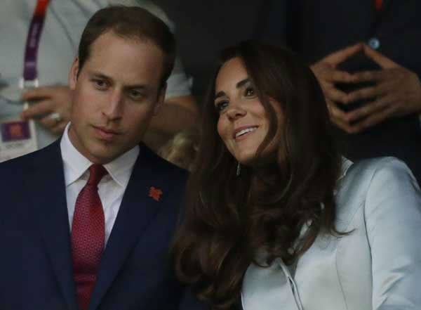 Britain&#39;s Catherine, Duchess of Cambridge, and Britain&#39;s Prince William, the Duke of Cambridge attend the Opening Ceremony at the 2012 Summer Olympics, Friday, July 27, 2012, in London. &#40;AP Photo&#47;David Goldman&#41; <span class=meta>(AP Photo&#47; David Goldman)</span>