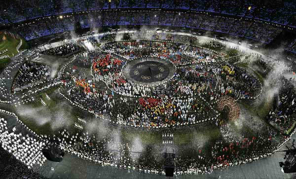 Athletes march in a parade during the Opening Ceremony at the 2012 Summer Olympics, Friday, July 27, 2012, in London.&#40;AP Photo&#47;Morry Gash&#41; <span class=meta>(AP Photo&#47; Morry Gash)</span>