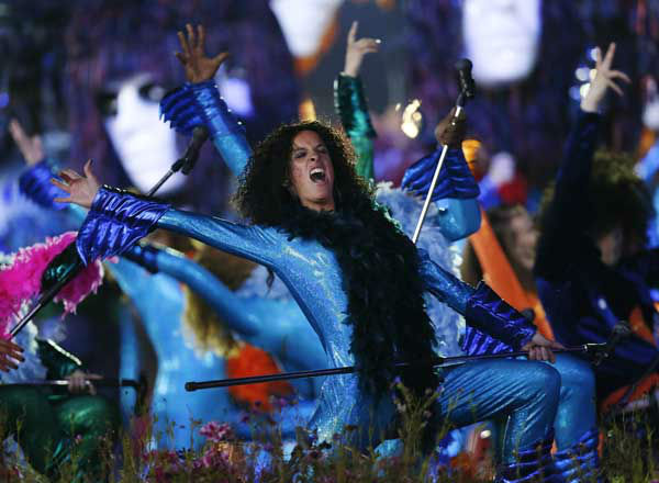 Performers dance during the Opening Ceremony at the 2012 Summer Olympics, Friday, July 27, 2012, in London. &#40;AP Photo&#47;Matt Dunham&#41; <span class=meta>(AP Photo&#47; Matt Dunham)</span>