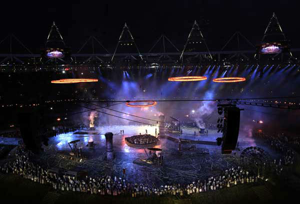 Artists perform during the Opening Ceremony at the 2012 Summer Olympics, Friday, July 27, 2012, in London. &#40;AP Photo&#47;Tim Donnelly&#41; <span class=meta>(AP Photo&#47; Tim Donnelly)</span>