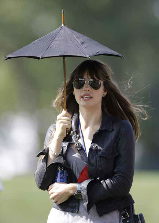 Actress Jessica Biel watches the celebrity scramble event at the Ryder Cup PGA golf tournament Tuesday, Sept. 25, 2012, at the Medinah Country Club in Medinah, Ill.  &#40;AP Photo&#47;Chris Carlson&#41; <span class=meta>(AP Photo&#47; Chris Carlson)</span>