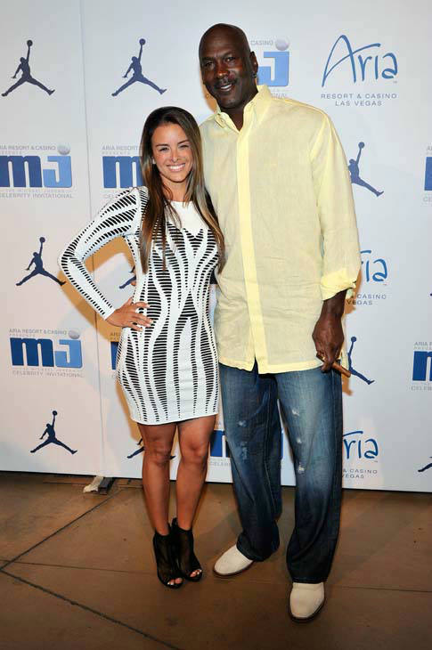 IMAGE DISTRIBUTED FOR JORDAN - Charlotte Bobcats owner Michael Jordan, right, and fiancee model Yvette Prieto arrive at the Michael Jordan Celebrity Invitational opening night dinner on Wednesday, April 3, 2013 in Las Vegas. &#40;Photo by Jeff Bottari&#47;Invision for Jordan&#47;AP Images&#41; <span class=meta>(AP Photo&#47; Jeff Bottari)</span>