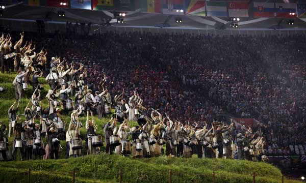 "<div class=""meta image-caption""><div class=""origin-logo origin-image ""><span></span></div><span class=""caption-text"">Actors perform during the Opening Ceremony at the 2012 Summer Olympics, Friday, July 27, 2012, in London. (AP Photo/Matt Slocum) (AP Photo/ Matt Slocum)</span></div>"