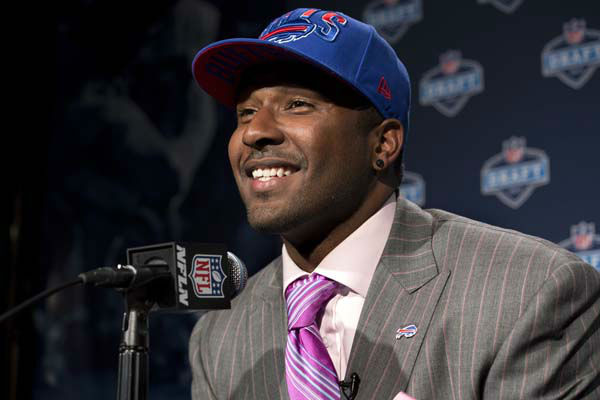 Florida State&#39;s E. J. Manuel addresses a news conference after being selected 16th by the Buffalo Bills during the first round of the NFL Draft, Thursday, April 25, 2013 at Radio City Music Hall in New York.&#40;AP Photo&#47;Craig Ruttle&#41; <span class=meta>(AP Photo&#47; Craig Ruttle)</span>