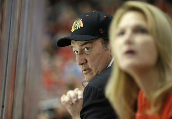 "<div class=""meta ""><span class=""caption-text "">Actor Jim Belushi watches during the first period of Game 1 in their NHL Stanley Cup Final hockey series between the Chicago Blackhawks and the Boston Bruins, Wednesday, June 12, 2013, in Chicago. (AP Photo/Nam Y. Huh) (AP Photo/ Nam Y. Huh)</span></div>"