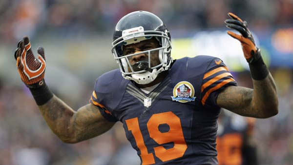 "<div class=""meta ""><span class=""caption-text "">Chicago Bears special teams player Joe Anderson (19) celebrates after a tackle in the first half of an NFL football game against the Green Bay Packers in Chicago, Sunday, Dec. 16, 2012. (AP Photo/Nam Y. Huh)</span></div>"