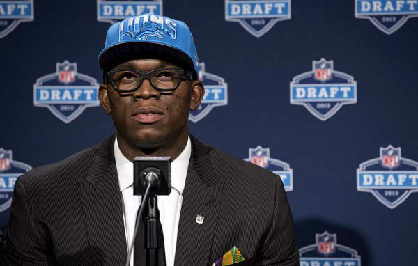 Ezekiel &#34;Ziggy&#34; Ansah, of Brigham Young, attends a news conference after being selected fifth overall by the Detroit Lions during the first round of the NFL football draft, Thursday, April 25, 2013, at Radio City Music Hall in New York. &#40;AP Photo&#47;Craig Ruttle&#41; <span class=meta>(AP Photo&#47; Craig Ruttle)</span>