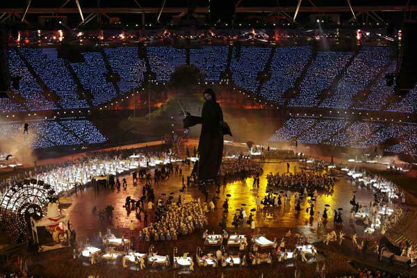 Artists perform during the Opening Ceremony at the 2012 Summer Olympics, Friday, July 27, 2012, in London. &#40;AP Photo&#47;Ivan Sekretarev&#41; <span class=meta>(AP Photo&#47; Ivan Sekretarev)</span>