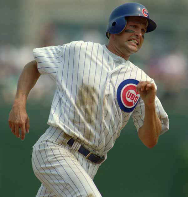 Chicago Cubs&#39; Mark Grace rounds second base on his way to third on a hit by Sammy Sosa in the first inning against the Atlanta Braves Saturday, Aug. 26, 1995, at Wrigley Field in Chicago. Chicago lost to Atlanta 7-2. &#40;AP Photo&#47;Beth A. Keiser&#41; <span class=meta>(AP Photo&#47; BETH A. KEISER)</span>