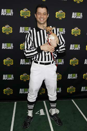IMAGE DISTRIBUTED FOR DISCOVERY COMMUNICATIONS -  Puppy Bowl Referee, Dan Schachner attends Puppy Bowl X at the Discovery Times Square Experience in New York on Tuesday, Jan. 28, 2014. &#40;Mark Von Holden&#47;AP Images for Discovery Communications&#41; <span class=meta>(WLS Photo&#47; Mark Von Holden)</span>