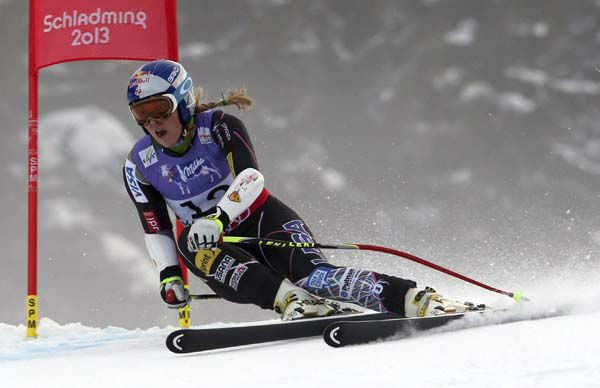 United States&#39;?Lindsey?Vonn speeds down the course during the women&#39;s super-G course, at the Alpine skiing world championships in Schladming, Austria, Tuesday, Feb.5, 2013. &#40;AP Photo&#47;Luca Bruno&#41; <span class=meta>(AP Photo&#47; Luca Bruno)</span>