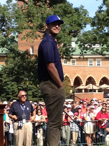 "<div class=""meta ""><span class=""caption-text "">Justin Timberlake smiling at #RyderCup. Via @RaferWeigel</span></div>"