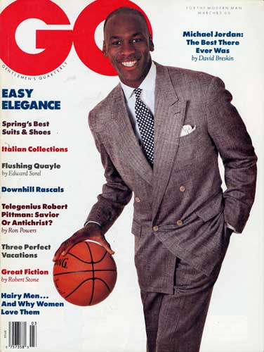 Chicago Bull Michael Jordan was on the 1989 cover of GQ magazine. <span class=meta>(GQ)</span>