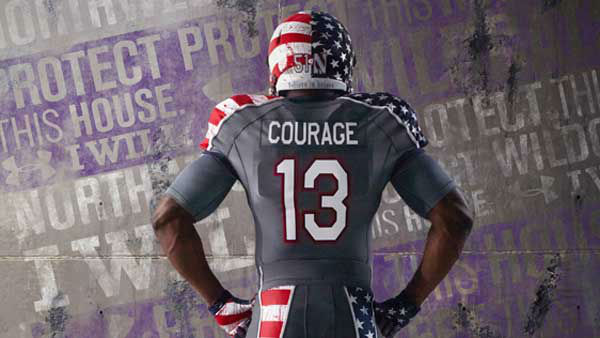 After the game, the Northwestern Wounded Warrior uniforms will be auctioned off on the Northwestern University athletics website, NUSports.com. <span class=meta>(WLS Photo&#47; Northwestern  University)</span>