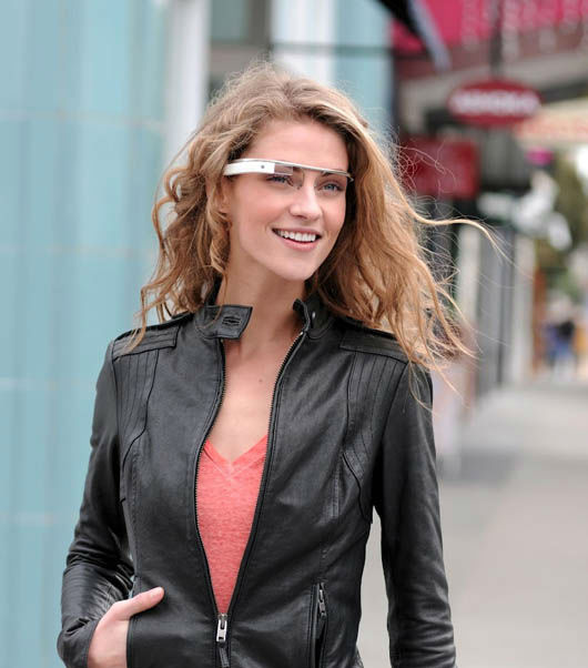 "<div class=""meta ""><span class=""caption-text "">In this undated handout photo provided by the Google[x] group's ""Project Glass"", an early prototype of Google's futuristic Internet-connected glasses, are modeled. The specs are said to give you directions, let you video chat, shop and do everything else you now need a handheld gadget to accomplish. Google gave a glimpse of ?Project Glass? in a video and blog post this week. (AP Photo/Google)</span></div>"
