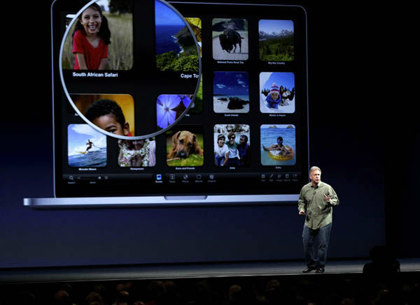 "<div class=""meta ""><span class=""caption-text "">Phil Schiller, Apple's senior vice president of worldwide marketing, talks about new features to the company's laptops during the Apple Developers Conference in San Francisco,  Monday, June 11, 2012. Apple says it's introducing a laptop with a super-high resolution ""Retina"" display, setting a new standard for screen sharpness. (AP Photo/Marcio Jose Sanchez) (AP Photo/ Marcio Jose Sanchez)</span></div>"