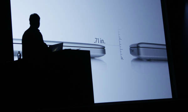 "<div class=""meta ""><span class=""caption-text "">Apple's Phil Schiller speaks about the new MacBook Pro at the Apple Developers Conference in San Francisco, Monday, June 11, 2012. The new MacBook Pro, will get a new Intel chip and prices for the 13-inch model will be $1,199 to $1,499, while a 15-inch model will be $1,799 or $2,199, depending on the amount of storage. The new MacBook Air and MacBook Pro models will start shipping Monday. (AP Photo/Paul Sakuma) (AP Photo/ Paul Sakuma)</span></div>"
