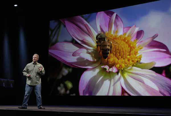 "<div class=""meta image-caption""><div class=""origin-logo origin-image ""><span></span></div><span class=""caption-text"">Phil Schiller, Apple's senior vice president of worldwide marketing, talks about the features of the new camera and iSight during an introduction of the new iPhone 5 at an Apple event in San Francisco, Wednesday Sept. 12, 2012. (AP Photo/Eric Risberg) (AP Photo/ Eric Risberg)</span></div>"