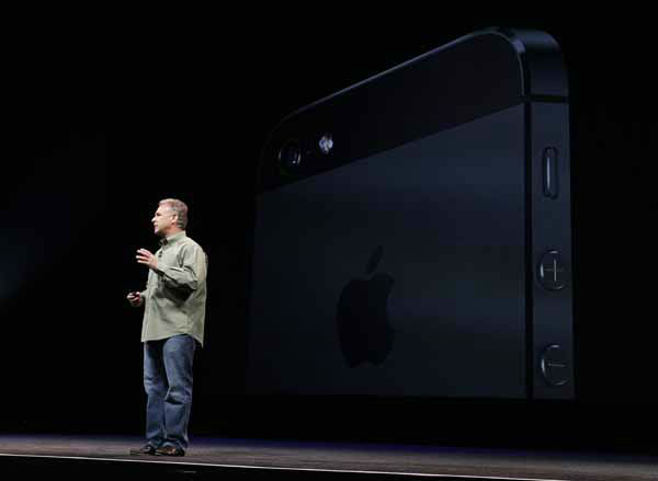 "<div class=""meta image-caption""><div class=""origin-logo origin-image ""><span></span></div><span class=""caption-text"">Phil Schiller, Apple's senior vice president of worldwide marketing, speaks on stage during an introduction of the new iPhone 5 at an Apple event in San Francisco, Wednesday Sept. 12, 2012. (AP Photo/Eric Risberg) (AP Photo/ Eric Risberg)</span></div>"