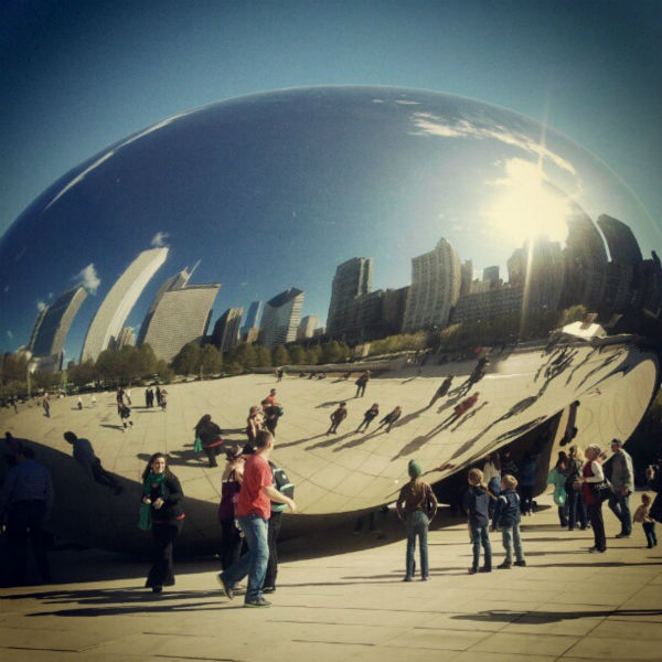 On the day Facebook bought Instagram for &#36;1 billion, ABC7Chicago.com decided it was a good day to try out the app in Chicago&#39;s Millennium Park. <span class=meta>(WLS Photo&#47; JOANNA WESOLY)</span>