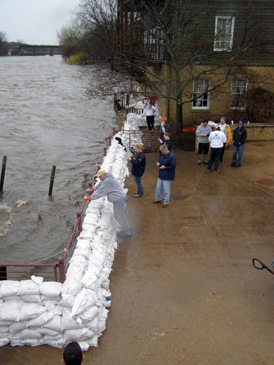 Viewer photo: Fox River threatens the Herrington Inn in Geneva.