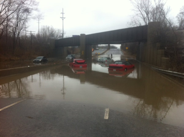 Viewer photo: Route 83 between St. Charles  Road and North Avenue in DuPage County.